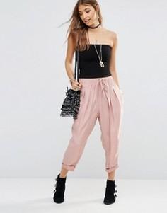 Свободные гаремные брюки Free People - Розовый