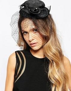 Вуалетка со шляпкой Neve & Eve - Черный