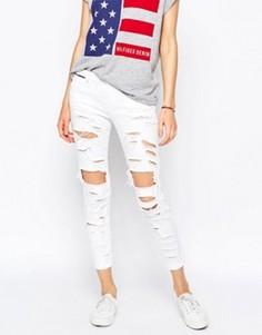 Рваные джинсы слим с классической талией Hilfiger Denim Naomi - Белый