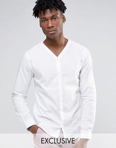 Рубашка со скрытой планкой Noak - Белый