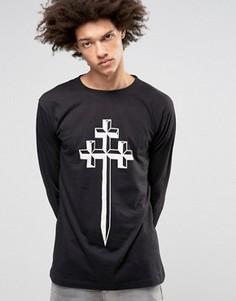 Лонгслив Long Clothing Steel - Черный