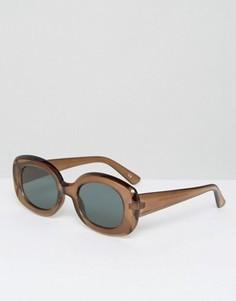 Квадратные солнцезащитные очки в стиле 90-х ASOS - Коричневый