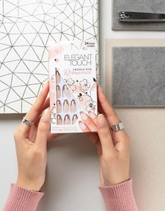 Заостренные накладные ногти Elegant Touch Romance Collection French Kiss - Бежевый