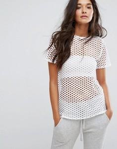 Сетчатая футболка бойфренда New Look - Белый