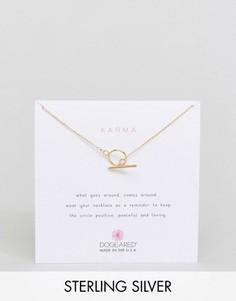 Позолоченное ожерелье Dogeared Karma - Золотой