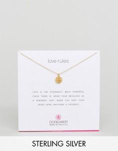 Позолоченное ожерелье Dogeared Love Rules Warm Heart - Золотой
