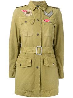 куртка в стиле милитари с поясом  Mr & Mrs Italy