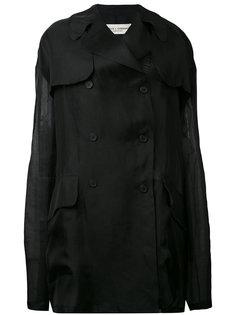 двубортный пиджак с прозрачной вставкой  Dolce & Gabbana Vintage