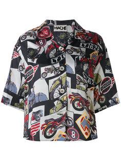 рубашка с принтом мотоциклов Hache