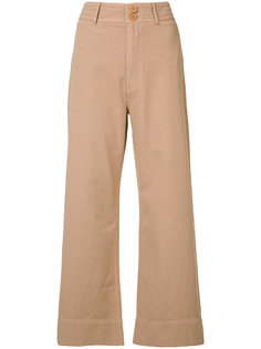 укороченные широкие брюки Apiece Apart