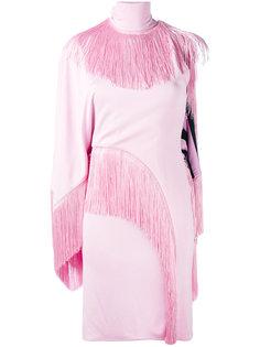 асимметричное платье с кисточками Givenchy