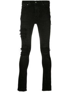 джинсы скинни с эффектом поношенности Ksubi
