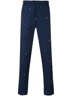 брюки с вышивкой Kenzo