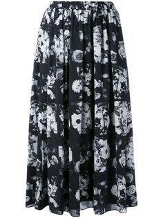 юбка-миди с цветочным принтом Kenzo