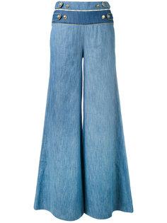 широкие брюки с пуговичной отделкой Pierre Balmain