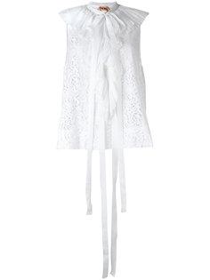 блузка с плиссировкой на воротнике  Nº21