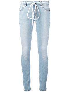 джинсы скинни с завязками на поясе Off-White
