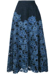 юбка А-силуэта с цветочным принтом Antonio Marras