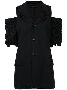 пиджак с вырезами на плечах и присборенными рукавами Comme Des Garçons Vintage