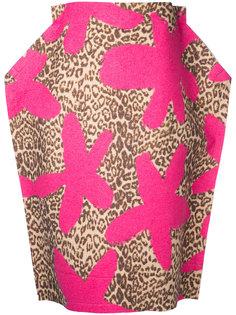 юбка с леопардовым принтом 2D Comme Des Garçons Vintage