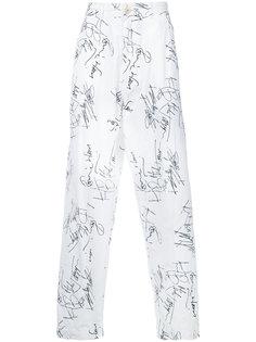 брюки с графическим принтом Comme Des Garçons Vintage