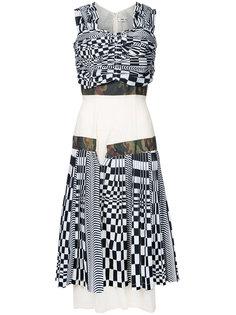 платье в клетку с корсетом Comme Des Garçons Vintage