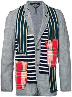 пиджак с комбинированным принтом Comme Des Garçons Vintage