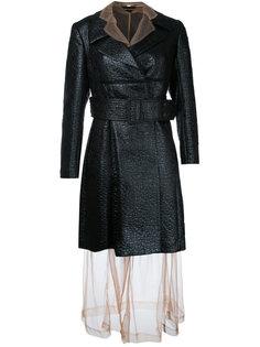пальто с прозрачным слоем Comme Des Garçons Vintage