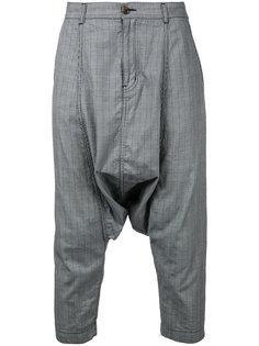 брюки в клетку с заниженным шаговым швом  Comme Des Garçons Vintage