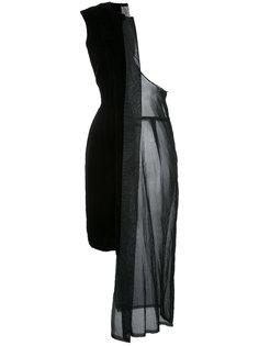 бархатное платье на одно плечо Comme Des Garçons Vintage