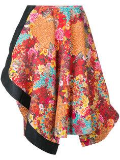 асимметричная юбка с цветочным принтом Comme Des Garçons Vintage