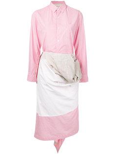 полосатое платье асимметричного кроя Comme Des Garçons Vintage