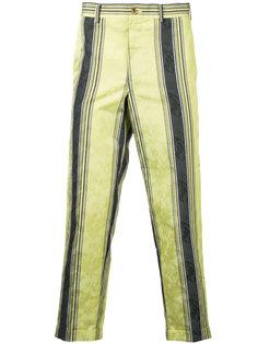 укороченные полосатые брюки Comme Des Garçons Vintage