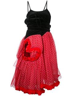 бархатное платье с заплаткой в виде сердца Comme Des Garçons Vintage