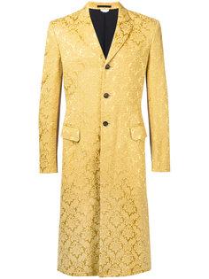 жаккардовое пальто с цветочным узором Comme Des Garçons Vintage