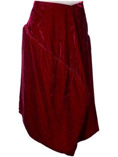 бархатная жаккардовая юбка  Comme Des Garçons Vintage