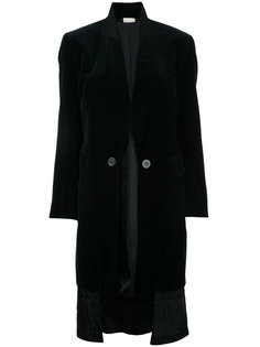 бархатное двухстороннее пальто Comme Des Garçons Vintage