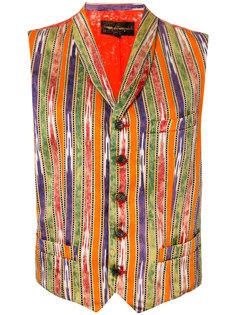 полосатый жилет с контрастными панелями Comme Des Garçons Vintage