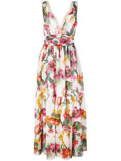 длинное платье с рисунком Cactus Blugirl