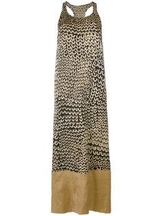 платье шифт с контрастными панелями Uma Wang