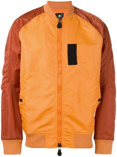 куртка-бомбер  с панельным дизайном Maharishi