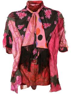 блузка с завязкой на шее Sacai