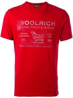 футболка с принтом с логотипом Woolrich