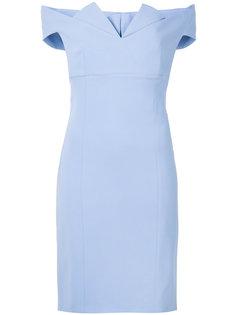 платье с открытыми плечами Capucci
