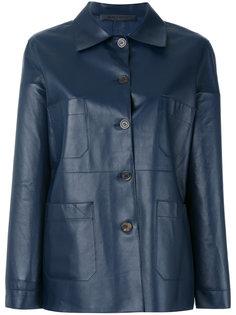 кожаная куртка на пуговицах Simonetta Ravizza