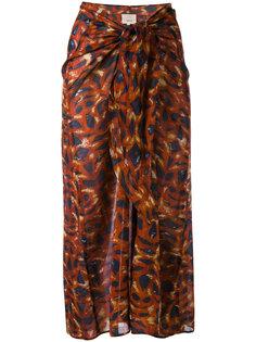 драпированная юбка миди Diega