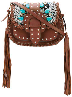 сумка Alice с блестящей отделкой и кисточками Gedebe