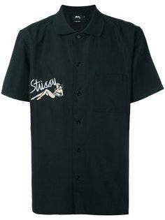 рубашка с вышивкой Stussy