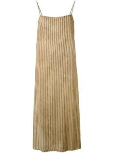 полосатое платье шифт Uma Wang