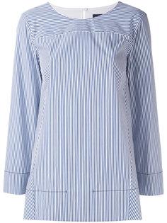 поплиновая полосатая рубашка Piazza Sempione